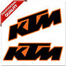 2 Stück PVC Aufkleber KTM Racing Auto Moto GP Motocross Motorrad Vinyl Stickers