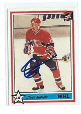 Steve Junker Signed 1990/91 7th Inning Sketch WHL Card #193