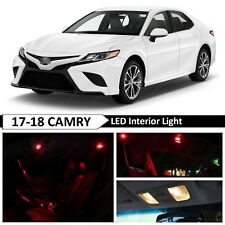 14x Red Interior Map Dome LED Lights Package Kit Fit 2017-2018 Toyota Camry