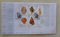 2015 NEW ZEALAND SEASHELLS 5 STAMP MINI SHEET FDC FIRST DAY COVER