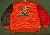 Miami Hurricanes Vintage USA Pro Sports Satin Jacket Size Medium RARE