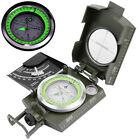 BW Bundeswehr Armeekompass oliv Kompass Metallgehäuse Marschkompass mit Etui