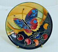 Beautiful Moorcroft 'Hartgring' Pattern 2002 Coaster/Pin Dish! Made in England!