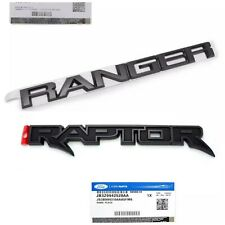 GENUINE Ford RANGER &​ RAPTOR REAR EMBLEM Black edition BADGE DECALS F150