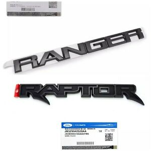 GENUINE Ford RANGER &​ RAPTOR REAR EMBLEM Black edition BADGE DECALS F150 PickUp