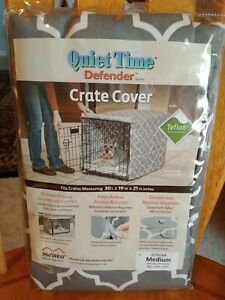 """Dog/Pet Crate Cover Quiet Time Defender (M) 30""""Lx19""""Wx21""""H Teflon Protected NEW"""