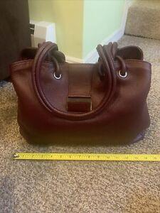 principe milano leather handbag Burgundy New Without Tags