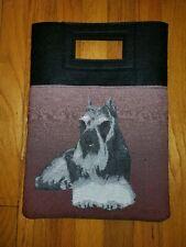 Miniature standard Schnauzer terrier Dog tapestry purse book computer bag