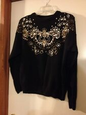 Ladies Fashion Sweater Size M Trimmings