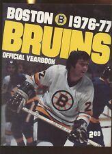 1976/1977 NHL Hockey Boston Bruins Yearbook EXMT