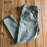 Mossimo Womens Green High Rise Skinny Jeans Size 18