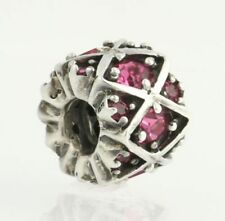 NEW Chamilia Bead Charm - Sterling Silver Shimmering Stones - Pink JB-36D