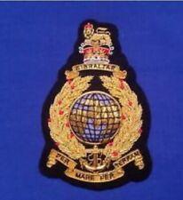 Royal Marines Commando blazer badge Gold Bullion