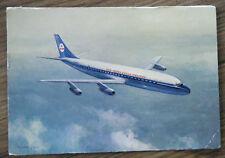 alte AK KLM Royal Dutch Airlines DC-8  Jet Flugzeug in der Luft Niederlande