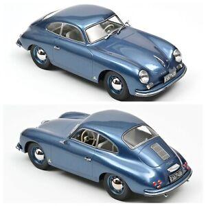 1/18 NOREV Porsche 356 Coupé 1952 Blue New Box Original Shipping Home