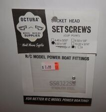 """Octura Socket Head Set Screws (Cup Point) 8-32  1/8"""" (2pcs) #SS8322SS NIP"""