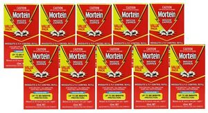 10 x MORTEIN MOZZIE ZAPPER REFILLS 45mL ODOURLESS UP TO 60 NIGHTS PROTECTION