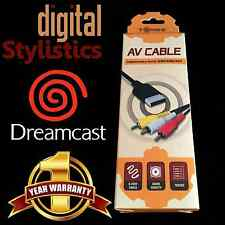 A/V Cable Cord (NEW) Sega Dreamcast (AV Audio Video) NIB Sealed Retail Packaging
