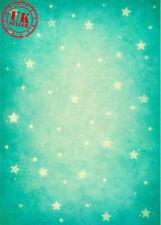 Natale CIANO BLU-VERDE STELLE BABY sfondo in Vinile Foto di scena 5X7FT 150x220CM