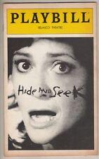 """Elizabeth Ashley  """"Hide and Seek""""  Playbill  Broadway  FLOP  1980"""