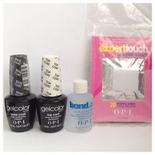 Opi Gelcolor Starter Kit Top Coat, Base Coat, Bond ayuda 15ml, Foil Removedor De Wraps