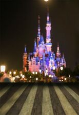 5x7ft Vinyl Photography Backdrop Castle Disney Night View Background Studio Prop