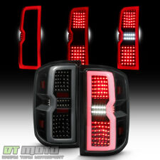 Blk Smoke [3D Sequential Signal] 2014-2017 Chevy Silverado 1500 LED Tail Lights