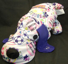 """Microbead Puppy Dog Just For Kicks Soccer Girls Rock Plush Pillow 16"""" Toy Lovey"""