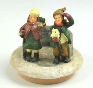 Round Jar Candle Topper Children Boy & Girl Fits Yankee Candle Jars