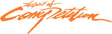 SPIRIT OF COMPETITION DECAL orange VINYL 150MM BY 46MM