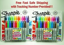 Sharpie Fine Point 24 Colors Permanent Markers New BURST Limited Edition 2 Packs