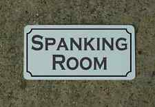 SPANKING ROOM Metal Sign 4 Hotel Motel Cosplay Girls Clubwear TV Movie SEX Props