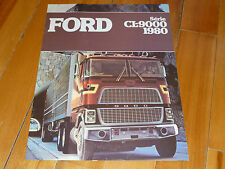 FORD 1980 80 SERIE CL 9000 BROCHURE FRENCH ORIGINAL TRUCK TRACTOR CAMION DEALER