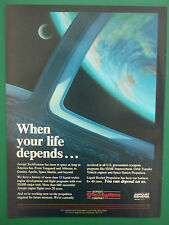6/1985 PUB AEROJET GENERAL TECHSYSTEMS LIQUID ROCKET ENGINE PROPULSION SPACE AD