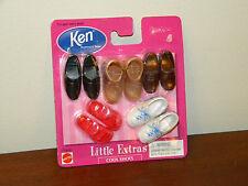 Ken Little Extras Cool Shoes 1998 MOC Barbie #67036 5 pair Boots Sandals Sneaker
