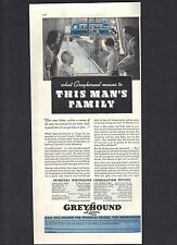 1936 Greyhound Bus Lines Ad,What Greyhound means to This Man's Family,Coupon