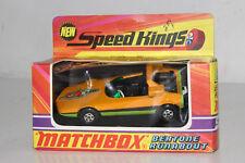 MATCHBOX SUPER SPEED KINGS #K-31 BERTONE RUNABOUT, ORANGE, EXCELLENT, BOXED #1