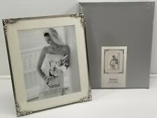 """N) Siena Rose Corners 8"""" x 10"""" Picture Photo Frame Silver Plated"""