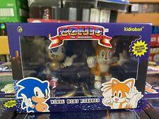 "2021 Kidrobot Sonic The Hedgehog Sonic & Tails 3"" Vinyl Figure Two-Pack NIB"