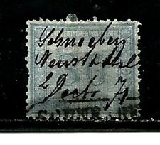 North German Confederation Sc 25- 1869 10gr RARE-Pen Cancelled/Cancelled