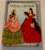 Vintage Tom Tierney Paper Dolls Book Full Color Fashions Of The Old South Uncut