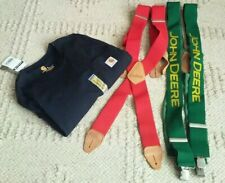Lot Carhartt john deere Men's Dungaree Button Suspenders XL + LS NWT shirt (L)