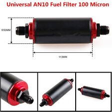 Universal AN10 100 Micron Aluminum High Flow Fuel Inline Petrol Filter Car Truck