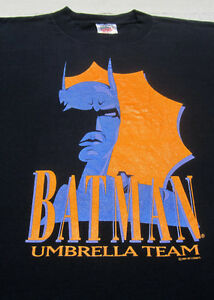 vintage 1991 BATMAN Umbrella Team XL T-SHIRT penguin