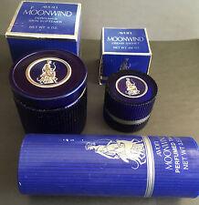 Vintage Avon Moonwind Skin Products Powder Empty Container Avon Collectibles