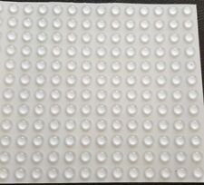 Silicone rubber feet bumpons x 20 clear, self adhesive sticky pads, 10mm x 3.2mm