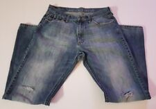 Nautica Relaxed Fit Distressed Destroyed Jeans Men's Size 32x32 Blue Denim