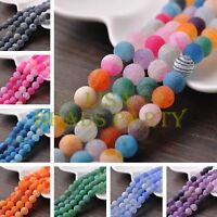 Wholesale 6~10mm Natural Agate Gemstone Stone Loose Round Spacer Beads Bulk
