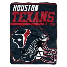 "New NFL Houston Texans Soft Micro Rasche Large Throw Blanket 46"" X 60"""