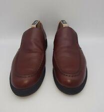 HAWKSHEAD Womens Size 7 Leather Loafers Brown Slip On In E U C
